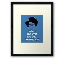 Maurice Moss - What the Flip Framed Print