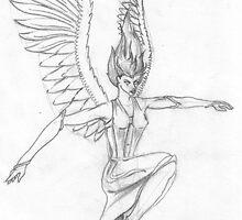Angel Drifting Aloft by AscherMalachi