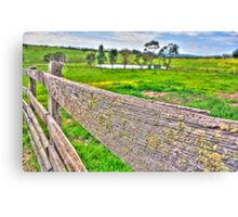 Fenced Off (HDR) Canvas Print