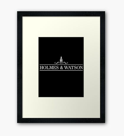 The Famous Detective and Doctor Framed Print