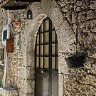 Doors in Fumone Italy by Warren. A. Williams