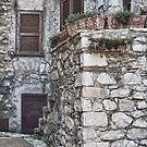 Homely Stone Entrance in Fumone Italy by Warren. A. Williams