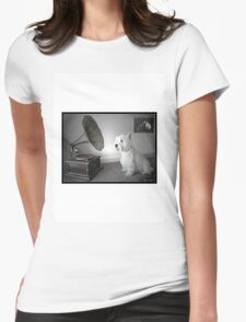 His Mistress's Voice Womens Fitted T-Shirt