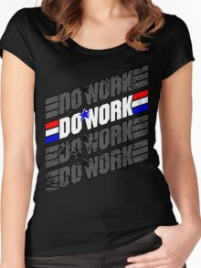 Do Work! 1 Women's Fitted Scoop T-Shirt