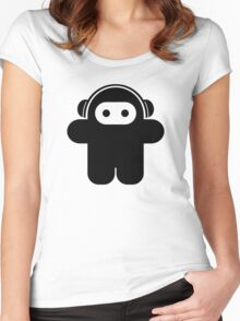 Funky Astronaut - Moonman Women's Fitted Scoop T-Shirt