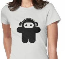 Funky Astronaut - Moonman Womens Fitted T-Shirt