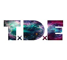 TDE TOP DAWG TRIPPY PURPLE TEAL GREEN BLUE NEBULA  Photographic Print
