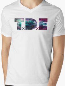 TDE TOP DAWG TRIPPY PURPLE TEAL GREEN BLUE NEBULA  Mens V-Neck T-Shirt