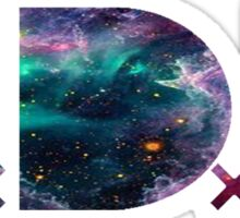 TDE TOP DAWG TRIPPY PURPLE TEAL GREEN BLUE NEBULA  Sticker