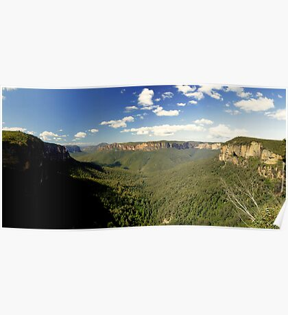 Govett's Leap, Blue Mountains, NSW.  Poster