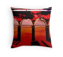 Archway to the Beach Throw Pillow