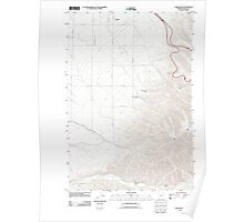 USGS Topo Map Oregon Table Rock 20110908 TM Poster
