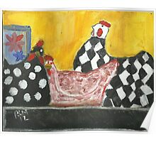 Some Painted Poultry:-) Poster