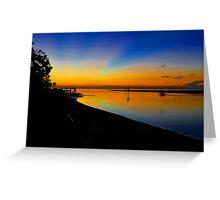 Pre dawn at Shorncliffe. Brisbane, Queensland, Australia. Greeting Card