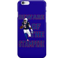 Tyrod Taylor - Beware Of The Stampede iPhone Case/Skin
