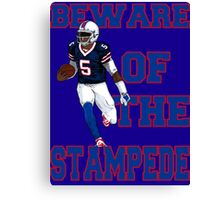 Tyrod Taylor - Beware Of The Stampede Canvas Print