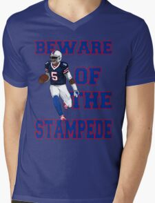 Tyrod Taylor - Beware Of The Stampede Mens V-Neck T-Shirt