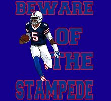 Tyrod Taylor - Beware Of The Stampede by MadManHolleran