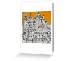 Yellow Dome Greeting Card