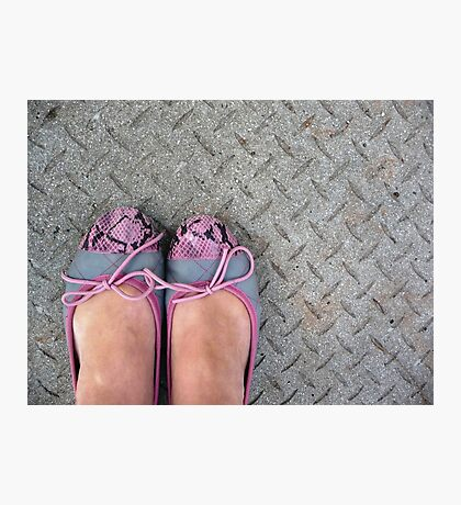 Pink and Grey pumps Photographic Print