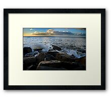 sea land Framed Print