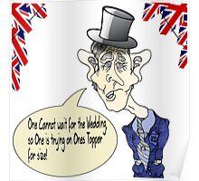 Funny Prince Charles Royal Wedding Cartoon. Poster