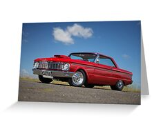 Red Ford Falcon XP Coupe Greeting Card