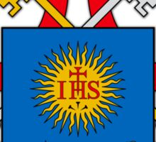 Papal Coat of Arms for Pope Francis on white Sticker