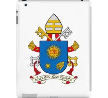 Papal Coat of Arms for Pope Francis on white iPad Case/Skin