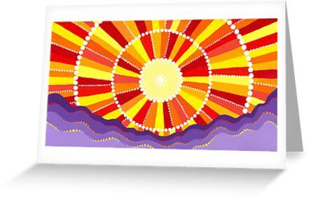 Vibrant sun by Elspeth McLean