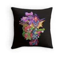 Chibi Gotham Girls Throw Pillow