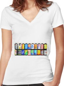 """""""Ode to Film"""" Women's Fitted V-Neck T-Shirt"""