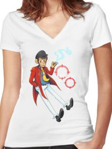 LUPIN III  Women's Fitted V-Neck T-Shirt