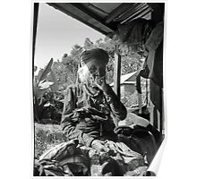 old lady smoking Poster