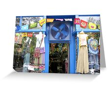 Blue Storefront Greeting Card