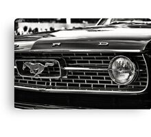close up of Ford Mustang Canvas Print