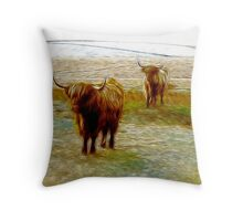 Hairy Beasties Throw Pillow
