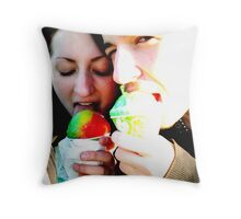 Snowcone Childhood Throw Pillow