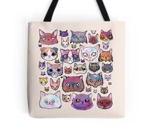 Feline Faces Tote Bag
