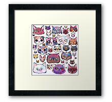 Feline Faces Framed Print
