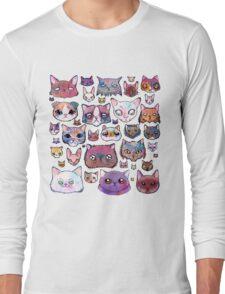 Feline Faces Long Sleeve T-Shirt