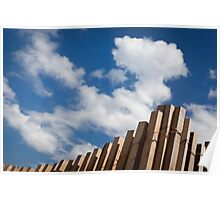 Wood fence against the sky - Lavadores, Gaia, Portugal Poster