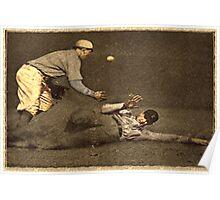 Vintage Style Baseball Memorabilia Poster