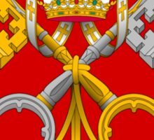 Papal Coat of Arms for Pope Francis (large) Sticker