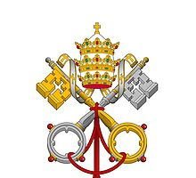 Papal Coat of Arms crossed keys by Celebrating Designs