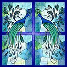 Peacock Design -Stainglass.. by Robin Monroe