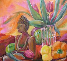 Still life with Buddha by Saga Sabin