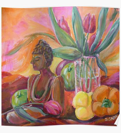 Still life with Buddha Poster
