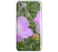Fuzzy Purple Gerardia iPhone Case/Skin