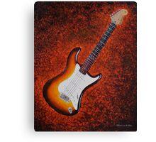 Sunburst Strat - Fender Stratocaster Guitar Canvas Print